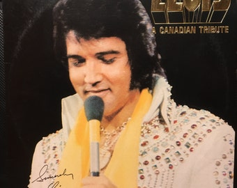 "ELVIS PRESLEY ""A Canadian Tribute"" ltd. ed. Gold colored vinyl record from 1978"