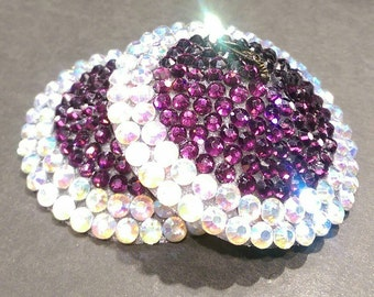Amethyst & Crystal AB Burlesque Nipple Tassel 3D Printed Pasties by Koston Kreme