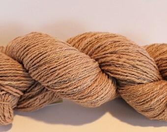 Mauve Pink Hand Spun Targhee Yarn 300 Yards Natural Dye