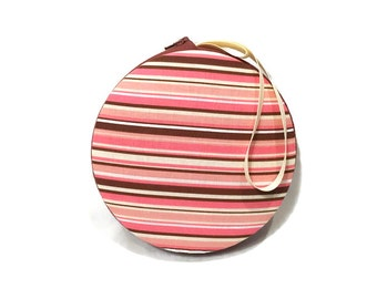 Striped Macaron Wristlet Clutch Wallet Large - The Catherine