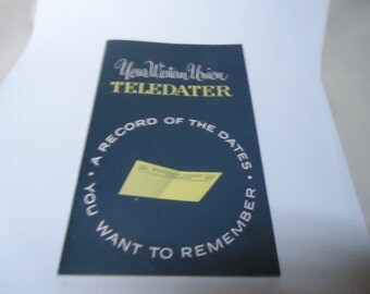 Vintage 1950's Your Western Union Teledater Date Book, UNUSED, collectable