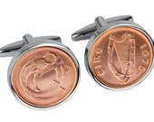 40th Gift- 1976 40th Coin Cufflinks- Lucky Irish Penny- 100% satisfaction guarantee.