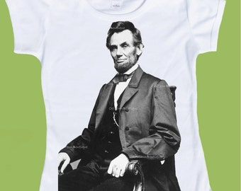 Lincoln T-Shirt, Abe Lincoln, One Piece Baby,Tank or T-Shirt, Family Shirts, Adult Shirts  by ChiTownBoutique.etsy