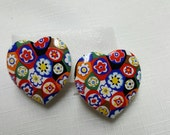 Avon porcelain Tapestry clip earrings Mint Condition 1992 Big Love