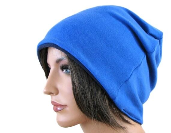 BLUE BEANIE HAT - Slouchy Beanie Hat - Oversized Hat - Baggy Beanie - Hipster Beanie - Beanie Cap - Womens Beanie - Mens Slouchy Beanie