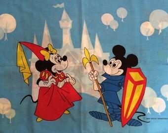 Mickey Mouse Disneyland- Vintage pillowcase