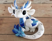 White and Blue Angel Dragon