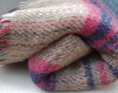 Vintage - TARTAN - All Wool  Blanket, throw - TWEEDMILL,  Scotland