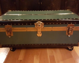 Exceptional Vintage Trunk Coffee Table  Free Shipping!