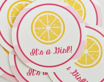 Printed tags, tags to match invitations, printed lemonade tags, lemonade tags, match any invitation in my shop