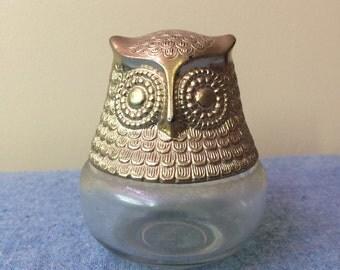 """Vintage Avon Owl Jar 4"""" tall"""