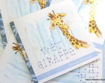 Wet Giraffe - children's paperback book
