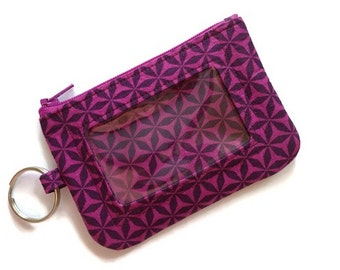 Student Id Holder-Plums-Keychain Wallet-Geometric
