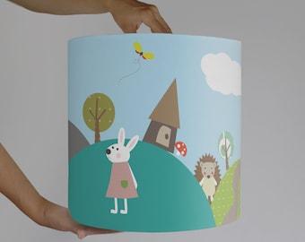 "Lamp shade ""rabbit-village"""