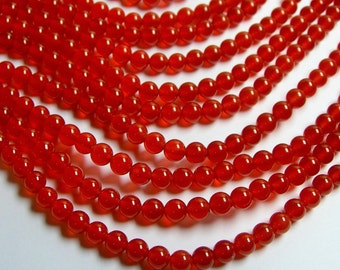Carnelian 6mm  round  beads - 1 full strand - 65 beads per strand - AA quality - RFG247