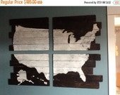 USA Map, United States of America Map, Cedar Plank USA Map, Giant 48x36,