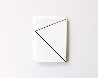 Lines - Letterpress Printed Greeting Card