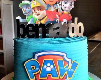 Paw Patrol Cake Topper Package