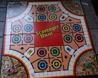 Game Boards vintage 1970s 19780s Lot of 4 Game Boards for Upcycle or Retro Home Decor Clue, Scavenger Hunt, Easy Money, and the Ungame