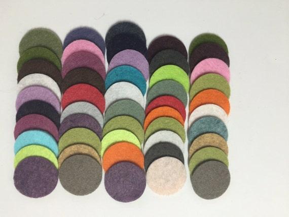 Wool felt circles die cut 50 1 inch random colored 3454 for Felt arts and crafts