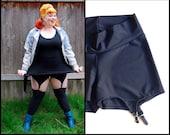 L schwarz Strumpfband Shorts Größe große 10 12 14