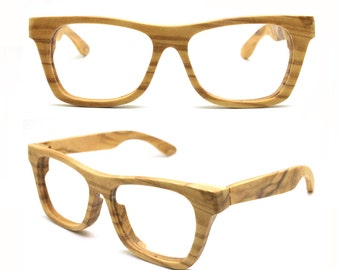 large size customize olive wood glasses sunglasses rx prescription eyeglasses WALKER2014 for TAKEMOTO
