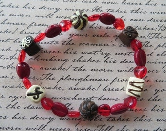 Stretchy Coffee And Chocolate Love Beaded Bracelet
