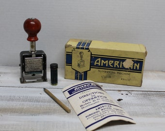 American Numbering Machine Co. Number Stamp, Numbering Machine, Self-Inking Stamp