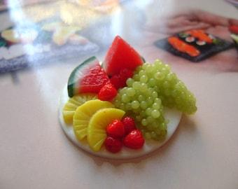 Dollshouse Food , miniatures dollshouse tray whit fruit