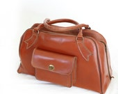 Toffee Pop, Vintage, Leather Hold all, Carry On, Handbag, Luggage, from Paris