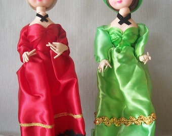 Vintage Nine-Inch Big Eye Korean Doll **