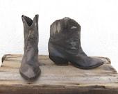 Zodiac Leather Ankle Painted Cowboy Boots Ladies Size 7M