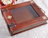 Wedding Stefana Case - Brown wood with gold details