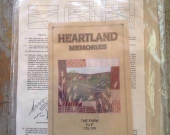 "Columbine Designs Heartland Memories The Farm 9 x 8"" Quilt Kit"