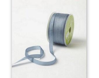 """4 Yards Narrow 1/4"""" wide SLATE BLUE Silk Ribbon Trim  cheswickcompany"""