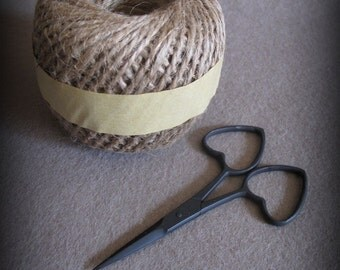 Love Embroidery Scissors and Ball of Jute cheswickcompany
