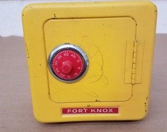 Vintage Metal Fort Knox Bank