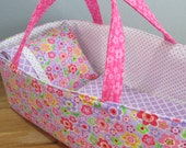 Doll Carrier, Bitty Baby Size, Lavender and Pink