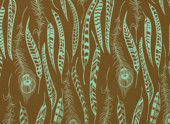Anna Maria Horner Field Study Fine Feathered jade Free Spirit fabric FQ or more
