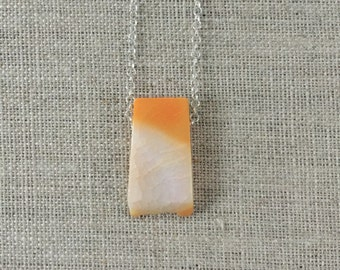 Snakeskin Agate Sterling Silver Necklace