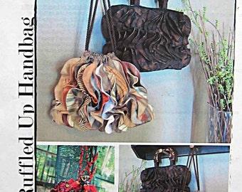 All Ruffled Up Handbag Bella Nonna 183 Sewing Pattern, Ruffle Purse, Drawstring Bag