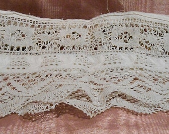antique Lace 1920s Cotton Lace Sleeve Craft Supply