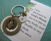 Religious Gifts | Scripture Gift | Encouragement Gift |  Catholic Gift | Christian Gift |  Goddaughter Gift | Angel Wing Key Chain