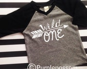 Birthday Shirt wild one Birthday Shirt Many Colors and Sizes Kids Birthday Shirt Arrow Birthday shirt Hipster