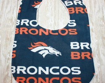 Denver Broncos Baby Bib, Football Bib, Baby Bib, Broncos Bib,Minky bib, Personalized Baby Bib, Bibs, Boy Bib, Girl Bib