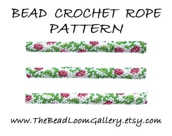 Bead Crochet Rope Pattern - Vol. 44 - Rose Branch - PDF File