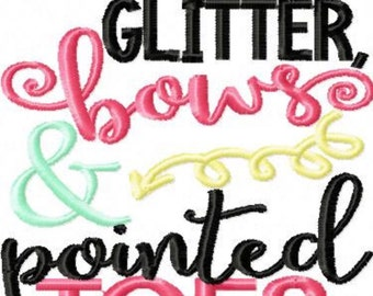 """Glitter bows and painted toes Girls Ruffle Shirt""""*****Please Read Shop Announcement*****"""