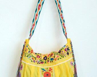 SALE Bohemian Embroidered Handbag Bonita Lolita Yellow