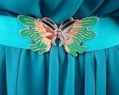 Vintage Butterfly Belt - Green
