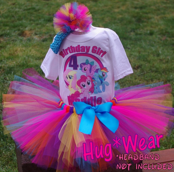 Birthday My Little Pony Shirt Tutu Outfit Any Age